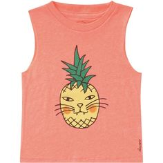 Billabong Unisex Cattitude Muscle Tee ($18) ❤ liked on Polyvore featuring tops, shirts, & - clothing - shirts, clothes - tops, peachy daze, t-shirt/prints, cat shirt, red shirt, pineapple shirt and pineapple print shirt