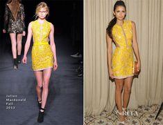 want that hair and those legs! Nina Dobrev In Julien Macdonald - Cosmopolitan's Summer Bash