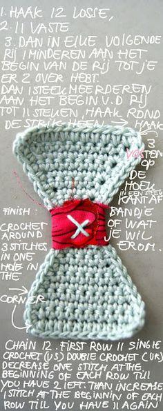 Crochet Bow - Tutorial ❥ 4U // hf