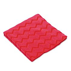 """Rubbermaid Commercial RCPQ620RED HYGEN Microfiber Cleaning Cloths 12"""" x 12"""" Red Janitorial Supplies Cleaning Supplies Cloths"""