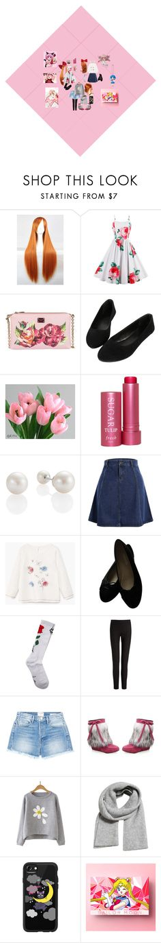 """""""Flower Power"""" by virchelacts ❤ liked on Polyvore featuring Dolce&Gabbana, Fresh, Chanel, Marcelo Burlon, Joseph, Frame, MANGO, Casetify, Puella and Mew."""