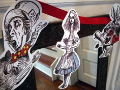 Alice Craft the cut-out garland printable