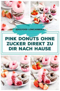 3er Donut Box ohne Zucker ohne Mehl, aber so lecker!! Ab sofort gibt es diese Box für dich Zuhause. Heute bestellt, morgen verschickt <3 #lowcarbdonuts #ketodonuts #donutsohnezucker #valentinesdonuts Low Carb Restaurants, Ab Sofort, Low Carb Desserts, Coleslaw, Lchf, Donuts, Brownies, Breakfast, Box