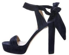 aa3ce93ef55a Navy suede Jimmy Choo Kaytrin platform sandals with pleat accents  throughout