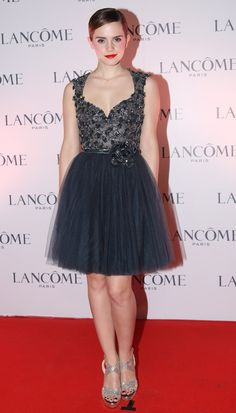 Emma Watson's Elie Saab Haute Couture at the VIP Lancôme Dinner in Hong Kong.