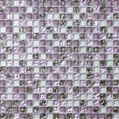 #LGLimitlessDesign & #Contest A modern and arsty fartsy addition to the gray and purple granite. 5/8 Inch Lavender Purple and Silver Gray Glass Tile Mosaic Beautiful for a kitchen back plash.