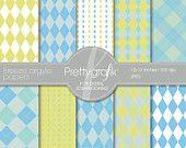 Breeze Argyle Papers - Digital Scrapbook Papers set - PGPSPK513 #prettygrafik