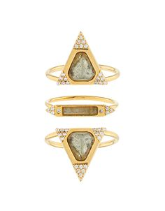 Part of the limited-edition Z for Accessorize collection. Stacked together or worn separately, our premium ring set promises to raise your style status. This...
