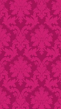 Vymura Adalia Damask Wallpaper Hot Pink and Purple. Pink Damask Wallpaper, Bright Wallpaper, Luxury Wallpaper, Love Wallpaper, Iphone Wallpaper, Interior Wallpaper, Interior Plants, Interior Ideas, Interior Design
