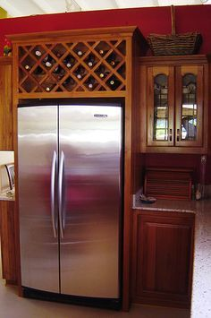 wine rack over refrigerator - Google Search