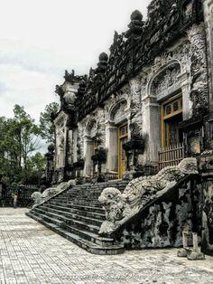 The tomb of Khai Dinh, Hue, Vietnam