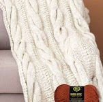 cable knit blanked from lion brand site