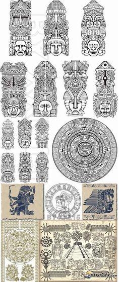 Symbols of aztec and maya estos son símbolos de los dioses mayas #samoantattoossymbols