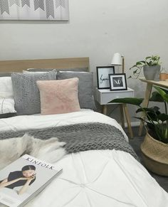 I am loving this bedroom styled by the lovely So many fab goodies. Some of my favs include… Bedroom Design Gold, Gray Bedroom, Trendy Bedroom, Bedroom Decor, Bedroom Ideas, Bright Girls Rooms, Kmart Home, Modern Home Interior Design, Bed Styling