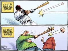 THE NEW NATIONAL PASTIME | Apr/02/15 Political Cartoons by Nate Beeler