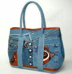 ~Recycling old jeans and do  handbags~