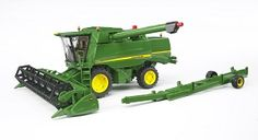 The John Deere T670i Combine Harvester from the Bruder Tractor collection - Discounts on all Bruder Toys at Wonderland Models.    One of our favourite models in the Bruder Tractor and Trailer range is the Bruder John Deere T670i Combine Harvester.  Bruder manufacture wonderful, amazingly detailed models of all sorts of vehicles, particularly tractors and trailers including this model of the John Deere T670i Combine Harvester.