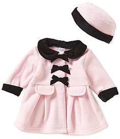 Starting Out Baby Girls 324 Months Velvet and Ribbon Detailed Coat #Dillards