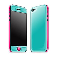 iPhone 5 Glow Gel Teal Pink, $26, now featured on Fab.