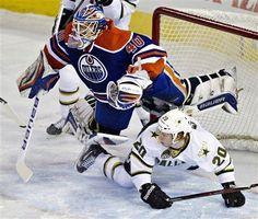Stars vs. Oilers, Cody Eakin & Devan Dubnyk  2-6-13