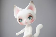 https://flic.kr/p/pv4Xfx | bean! | took home this little one from Dollism - Dear Mine Picasso Bean! I also bought some Oscar eyes, pretty sparkly things n_n  I altered the default faceup - added some small eyelash and brow lines, and painted the nose into a heart!