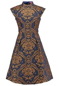 Robes Chi Chi London LEILA - Robe de soirée - navy/gold bleu foncé: 100,00 € chez Zalando (au 15/09/15). Livraison et retours gratuits et service client gratuit au 0800 740 357.