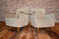 WOW 60s Retro 2x MARVELOUS BIG EASY CHAIR PAIR ARMCHAIRS FAUTEUIL Vintage WOW | eBay