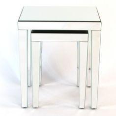 Wayborn Beveled Mirror Nesting Tables (Set of 2)
