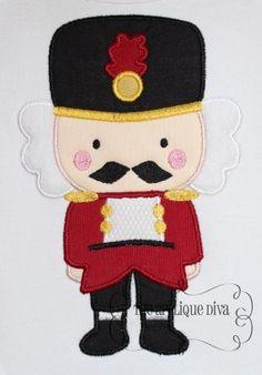 Christmas Nutcracker Digital Embroidery Design by theappliquediva, $2.99