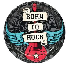 Born to Rock Dinner Plates