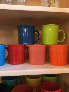 Dinnerware · Utensils · Fiesta handled coffee cups & 8 RETIRED CHOCOLATE BROWN FIESTA 10.5