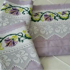 Neşe'nin gözdeleri Crochet Borders, Crochet Stitches, Embroidery Stitches, Lace Making, Bargello, Textiles, Bed Covers, Soft Furnishings, Home Textile