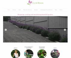 Ivy and Bloom - Landscape Gardening Portfolio Website, Business Website, Business Design, Garden Landscaping, Ivy, Web Design, Bloom, Gardening, Landscape