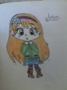 Random Chibi girl with rainbow eyes!!