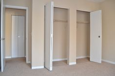 Check out all the storage in this spacious guest bedroom.