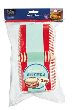 World of Flavours Stateside Card Burger Boxes, Multi-Colour: Amazon.co.uk: Kitchen & Home