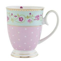 Clayre & Eef GRMU Tasse Becher Kaffeetasse Blume innen ca... http://amzn.to/28Ud9UP
