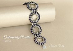Half Tila Bracelet Tutorial, Two holes beads, Contemporary by SidoniasBeads on Etsy