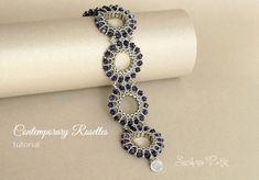 Half Tila Bracelet Tutorial, Two holes beads, Contemporary by SidoniasBeads on Etsy