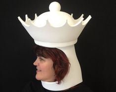 Chess Piece Adult Costume Hat/ Headdress : Queen. Need it fast? Express shipping is available at checkout. Got a question? Dont be shy, message me! * In black or white * Ships fast, worldwide * Hand made by Tentacle Studio * Lightweight, robust construction, from slightly flexible (pool noodle style) foam Youll be the hippest square on the chess board! Our chess hats are simply the best for a chess themed party: its easy to drink and dance while wearing one, and it wont muffle your vo...