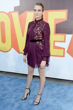 Cara Delevingne in Reem Acra. See what all the stars wore to the MTV Movie Awards.