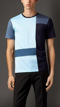 Powder blue Abstract Check Cotton T-Shirt - Image 1 Polo Vest, Sports Polo Shirts, Corporate Uniforms, T Shirt Image, Blue Abstract, Fit Men, Men Dress, Shirt Designs, Gym Fitness