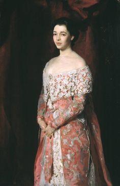 """Mrs. Leopold Hirsch"" (1902) by John Singer..."