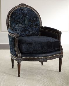 Shop Jayleen Bergere Chair from Massoud at Horchow, where you'll find new lower shipping on hundreds of home furnishings and gifts. Bergere Chair, Sofa Chair, Upholstered Chairs, Chair Pads, Re Upholster Chair, Swivel Chair, Chair Cushions, Living Room Furniture, Home Furniture