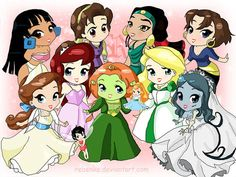 non disney princesses and other characters