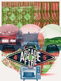 Arcade fire gig posters