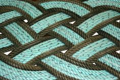 Recycled Rope Rug 31 x 14 Beach Doormat Rope by AlaskaRugCompany, $99.99