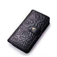 268864552417c Delikatny długi portfel damski Czarny Moda Koreańska