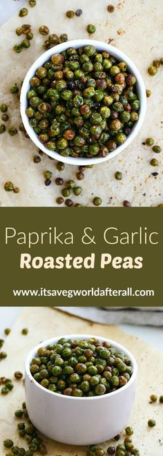 Paprika and Garlic Roasted Peas