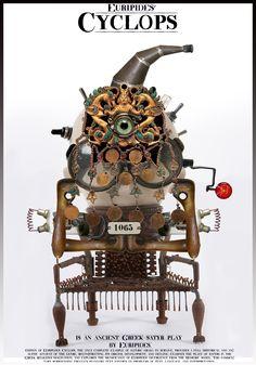 Istvan Horkay Satyr, Ancient Greek, Clock, Posters, Graphic Design, Illustration, Watch, Illustrations, Poster